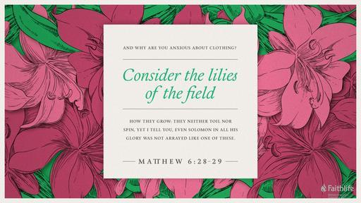Matthew 6:25-33